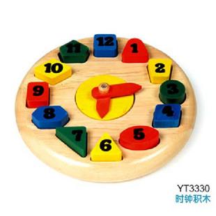 四喜人益智玩具/木玩世家/时钟积木图片