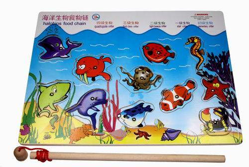 > 全家欢-海洋生物食物链238 纯天然木材 环保油漆 精装 quan jia