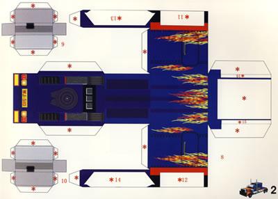 立体折纸工程车(立体折纸)