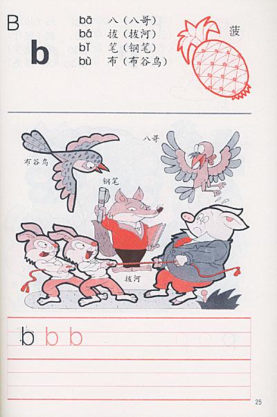 为学前及小学一年级儿童编写的学习汉语拼音的参考