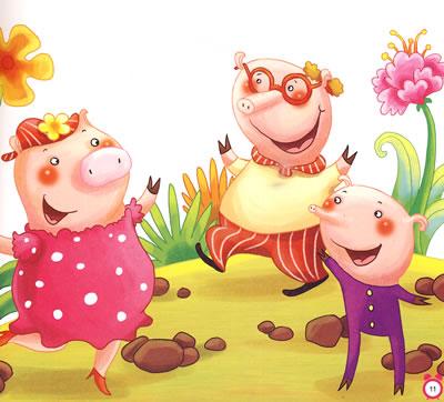 三只小猪故事背景ppt